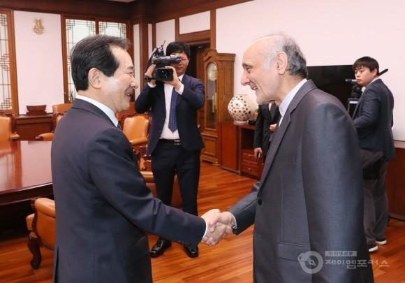 정세균 의장, 이란은 중요한 경제협력 파트너, 양국 간 교류 확대해야