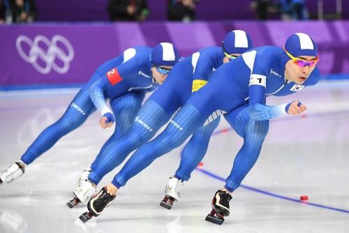 한국 남자 팀추월 은메달 확보…노르웨이와 결승 격돌
