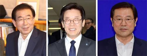 서울 박원순·경기 이재명·광주 이용섭 확정