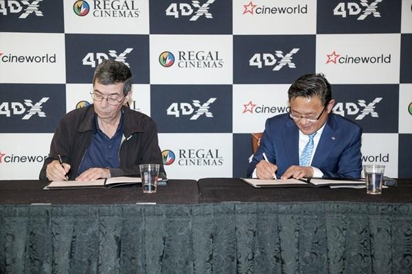 CGV 4DX, 세계 2위 극장사 '시네월드'와 99개관 추가 계약
