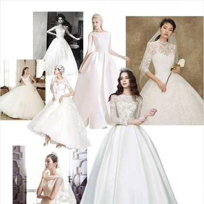 웨딩드레스 뭐 입을까 대표적인 실루엣과 네크라인을 선별해 고른 웨딩드레스
