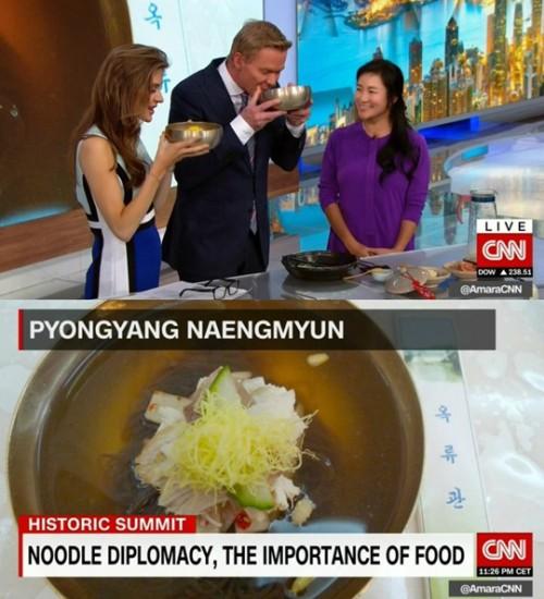 가수 겸 요리연구가 이지연, 美 CNN 생방송 특별 출연 '옥류관 냉면' 선보여