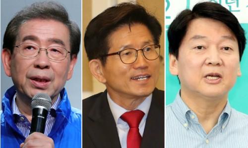 김문수·안철수, 서울시장 후보 단일화 기싸움