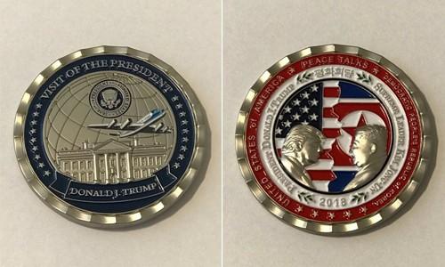 백악관, '트럼프-김정은 평화회담' 기념 주화 만들어