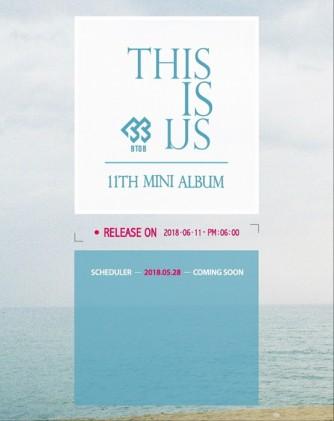 비투비, 컴백아트웍 공개…6월 11일 컴백 확정