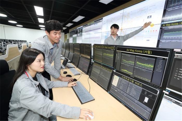 KT, '분' 단위로 실시간 미세먼지 파악…IoT와 빅데이터의 힘