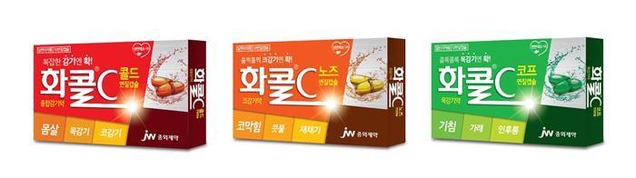 JW중외제약 '화콜C', 제품군별 리패키지 '눈길'