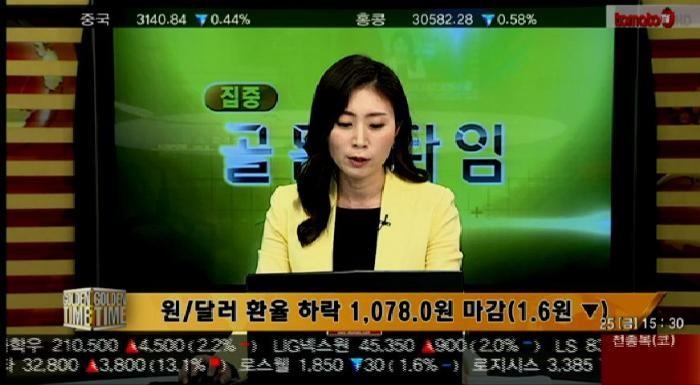 (외환마감)원/달러 환율 하락 1,078.0원 마감(1.6원 ▼)
