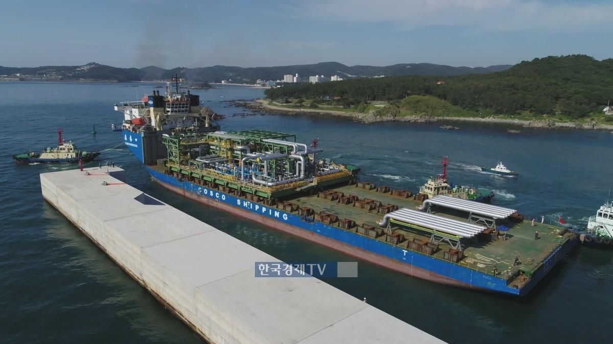 대우조선해양, 초대형 육상 원유생산 플랜트 첫 모듈 출항