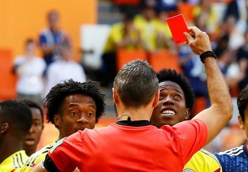 러시아 월드컵 첫퇴장 '불명예' 콜롬비아 카를로스 산체스는 누구
