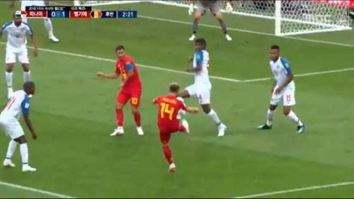 벨기에 후반 2분 메르텐스 중거리 슛, 파나마 골문 열어 1-0리드