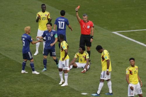 콜롬비아 카를로스 산체스, 러시아 월드컵 1호+역대 2번째 단시간 퇴장 기록
