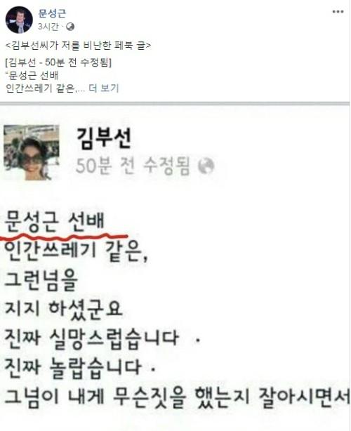 """문성근, '김부선 스캔들' 해명 """"이재명 지지 연설 당시 김부선에 대해 들은 것 없다"""""""