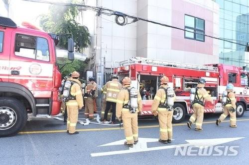 울산의 병원 지하실서 화재, 70여명 긴급 대피