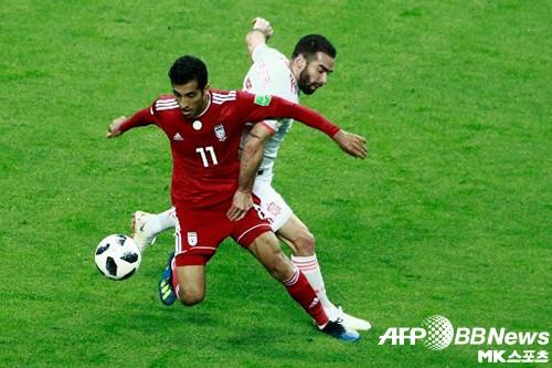 스페인-이란전, BBC가 뽑은 MVP는 바히드 아미리