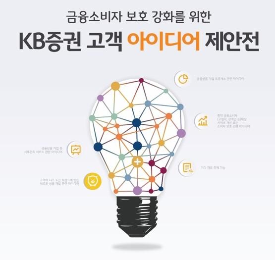 KB證, 금융소비자 보호 위한 '고객아이디어 제안전' 개최