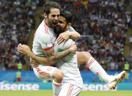 '코스타의 3호골' 스페인, 이란 1-0으로 눌러…러시아 월드컵 첫승