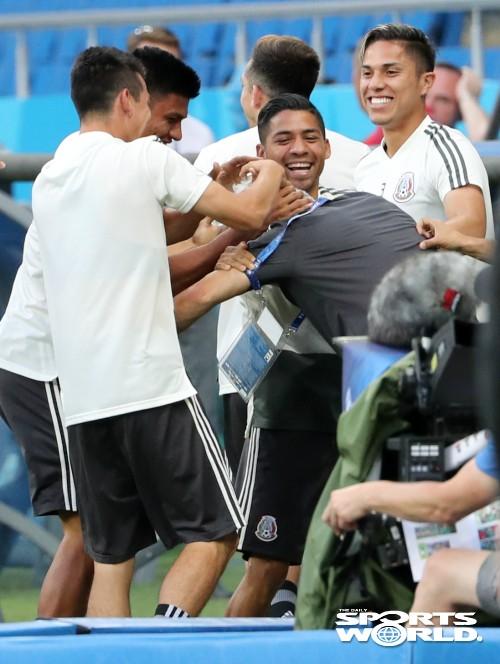 분위기 밝은 멕시코 대표팀
