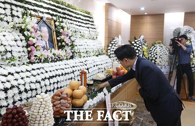 김종필 전 총리 조문하는 김문수