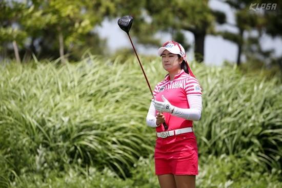 비씨-한경 레이디스, 목표지점을 조준하는 김아림