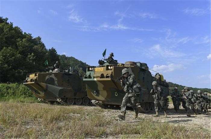 한미, 해병대 연합훈련 KMEP 무기한 유예