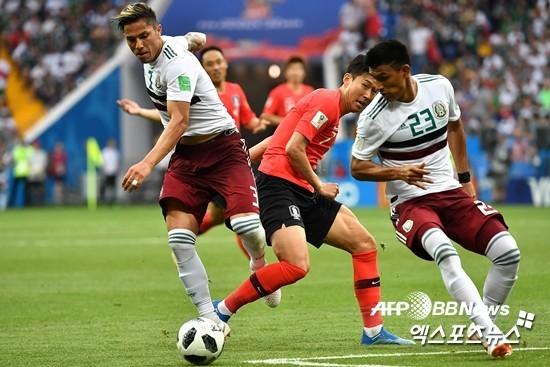 '손흥민 만회골' 한국, 멕시코에 1-2 패배…16강행 암운