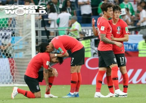 월드컵 축구대표팀 멕시코 2-1 패배