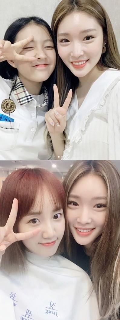 청하, '프로듀스 48' 이하은·박해윤 응원 '선배의 품격'