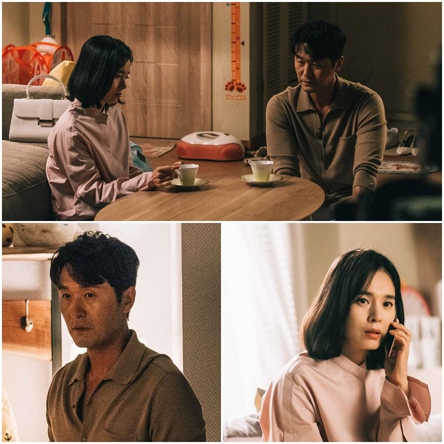 '이별이 떠났다'이성재·정혜영, '침묵의 티타임'
