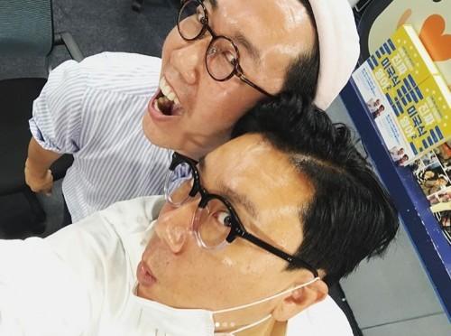 '구내식당' 김영철, 이상민과 다정한 인증샷 '독특한 셀카 각도'