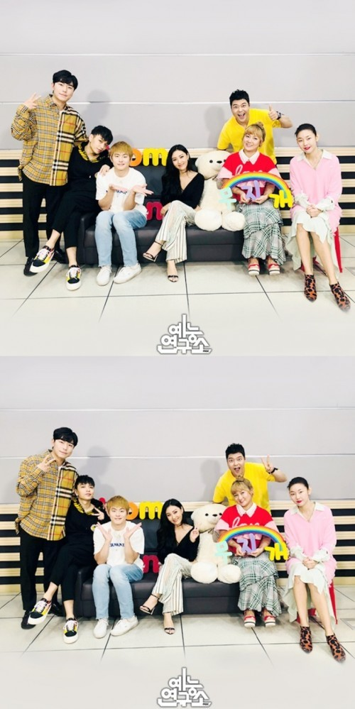 """'나혼자산다' 화사·쌈디·기안83·박나래·한혜진·전현무·이시언, 촬영 인증샷 """"곱창여신 컴백"""""""