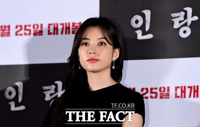 """'인랑' 한효주 """"가장 어려운 연기…부담감 아직도 남아 있어"""""""
