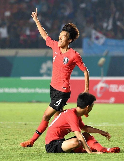 김진야, 바레인전 전반 23분 추가골 성공…2-0 리드 중