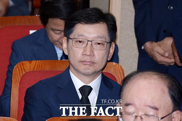 '영장 기각' 김경수, 김대중 추도식장 만감교차 '눈물'