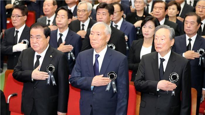 김대중 대통령 서거 9주기…여야 5당 대표 집결