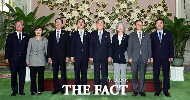 김영남 상임위원장과 면담한 남측 특별수행단