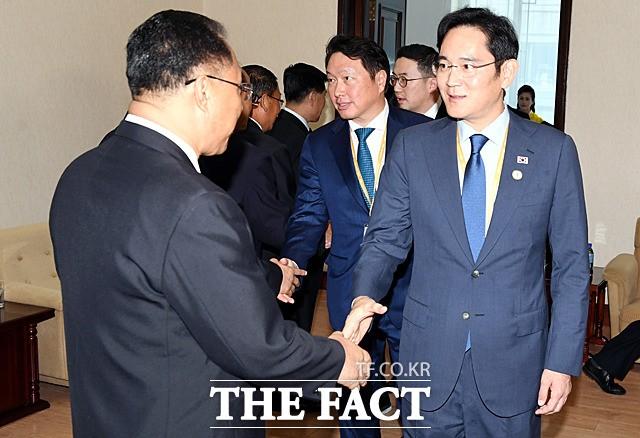 이재용·최태원 등 北 리용남 내각부총리 면담