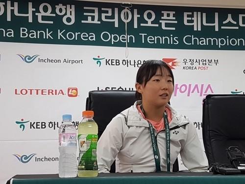 '테니스 유망주' 16살 박소현, 코리아오픈 본선 진출 경험