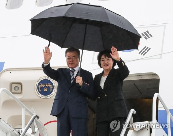 문재인 대통령, 뉴욕 도착…트럼프 만나 北비핵화 논의할 예정