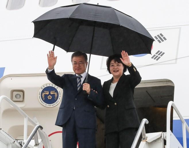 문재인 대통령, 뉴욕 도착…24일 트럼프 대통령과 한미 정상회담