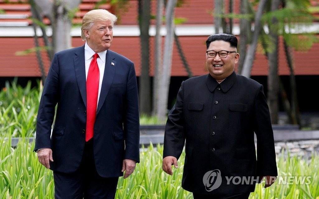 """트럼프 """"북한경제 잠재력 있어 도울 것..김정은 매우 개방적"""""""