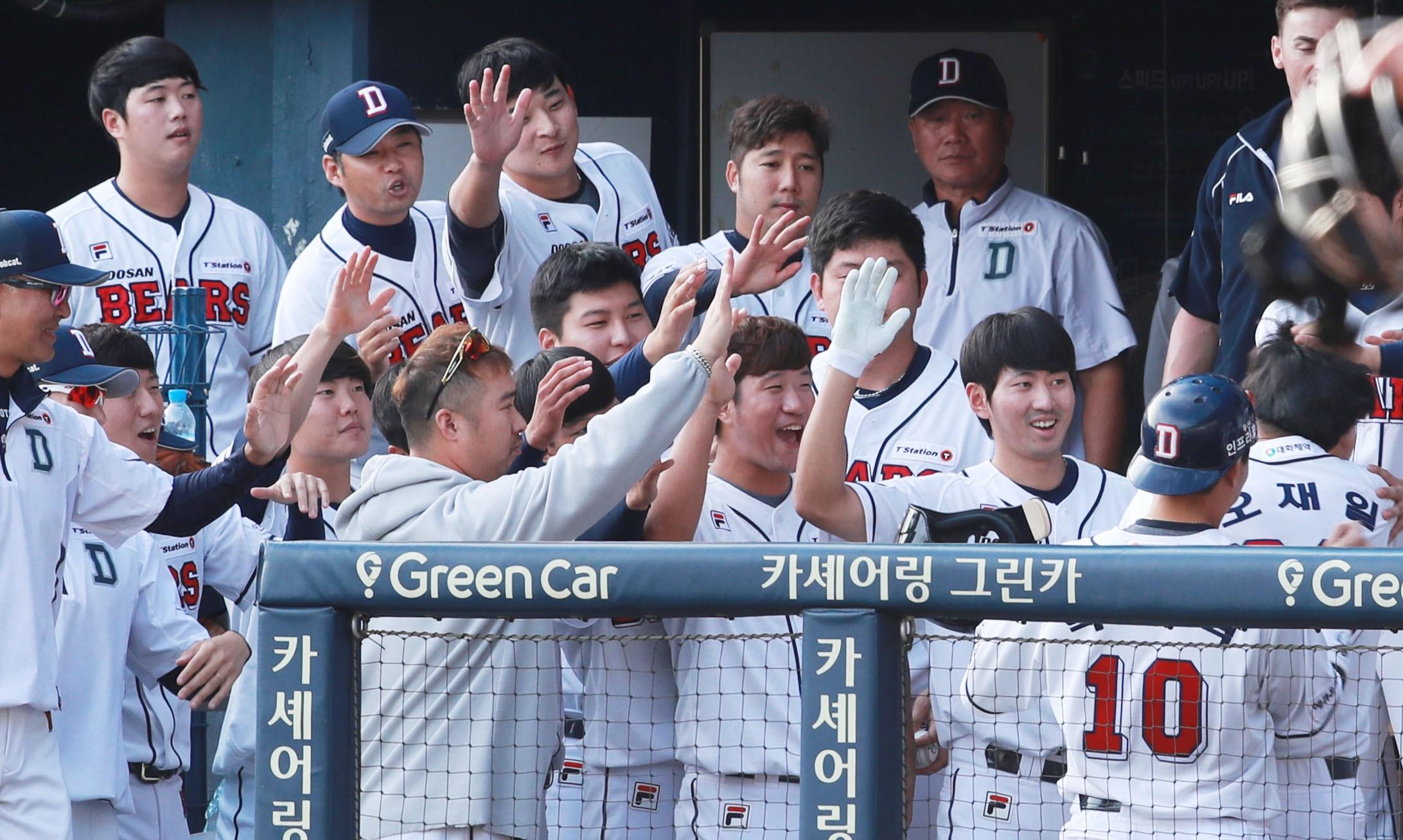 '오재일 만루 쐐기포' 두산, 넥센 꺾고 2년 만에 정규시즌 우승…KS직행