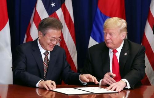 한·미 정상, FTA 재협정 공동성명 발표