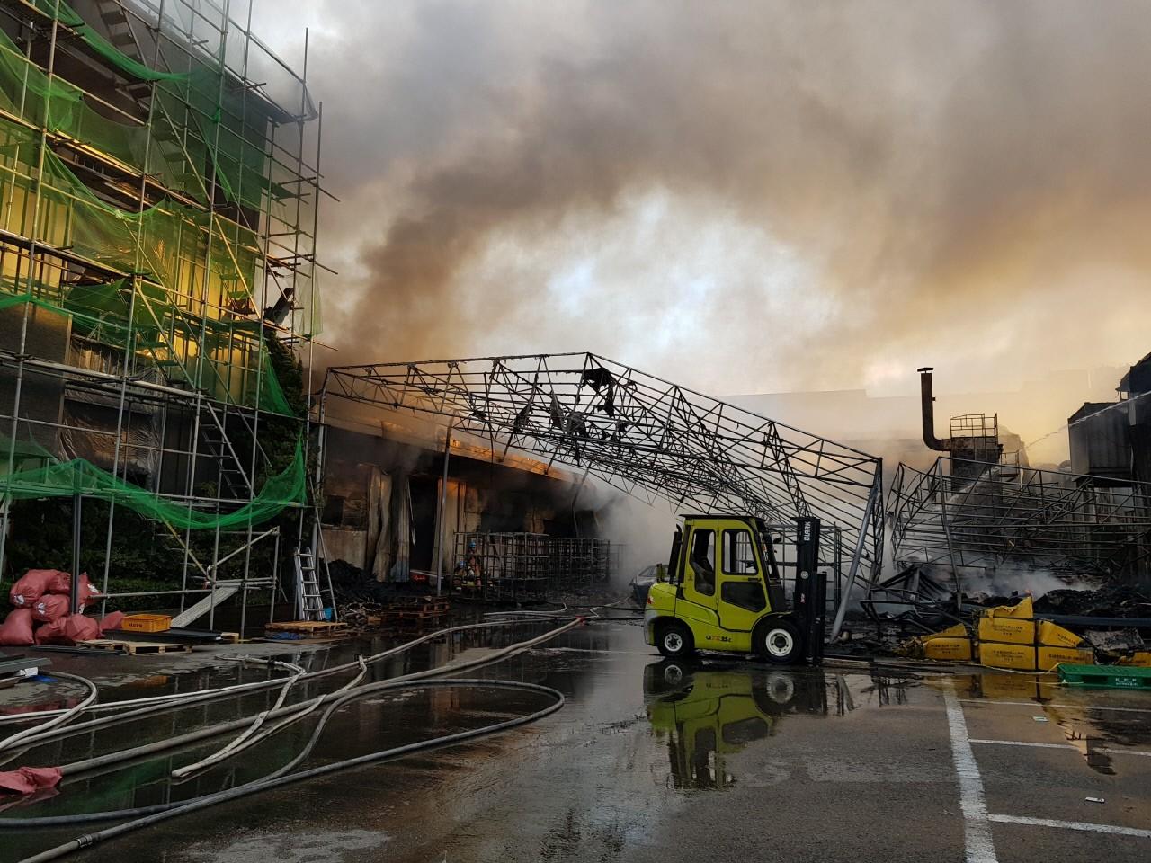 시화공단서 방화로 인한 화재…중국인 1명 사망