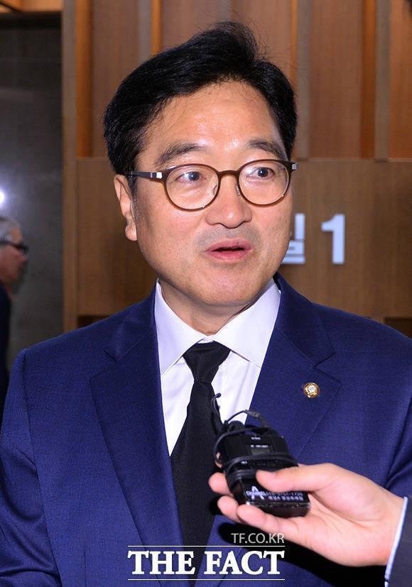 박지원 의원 부인 빈소 조문한 우원식 의원