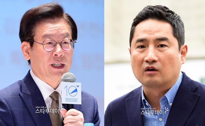 """이재명 """"빨간점 밖에 없어""""…강용석 저격 """"점이 우연히 그곳에?"""""""
