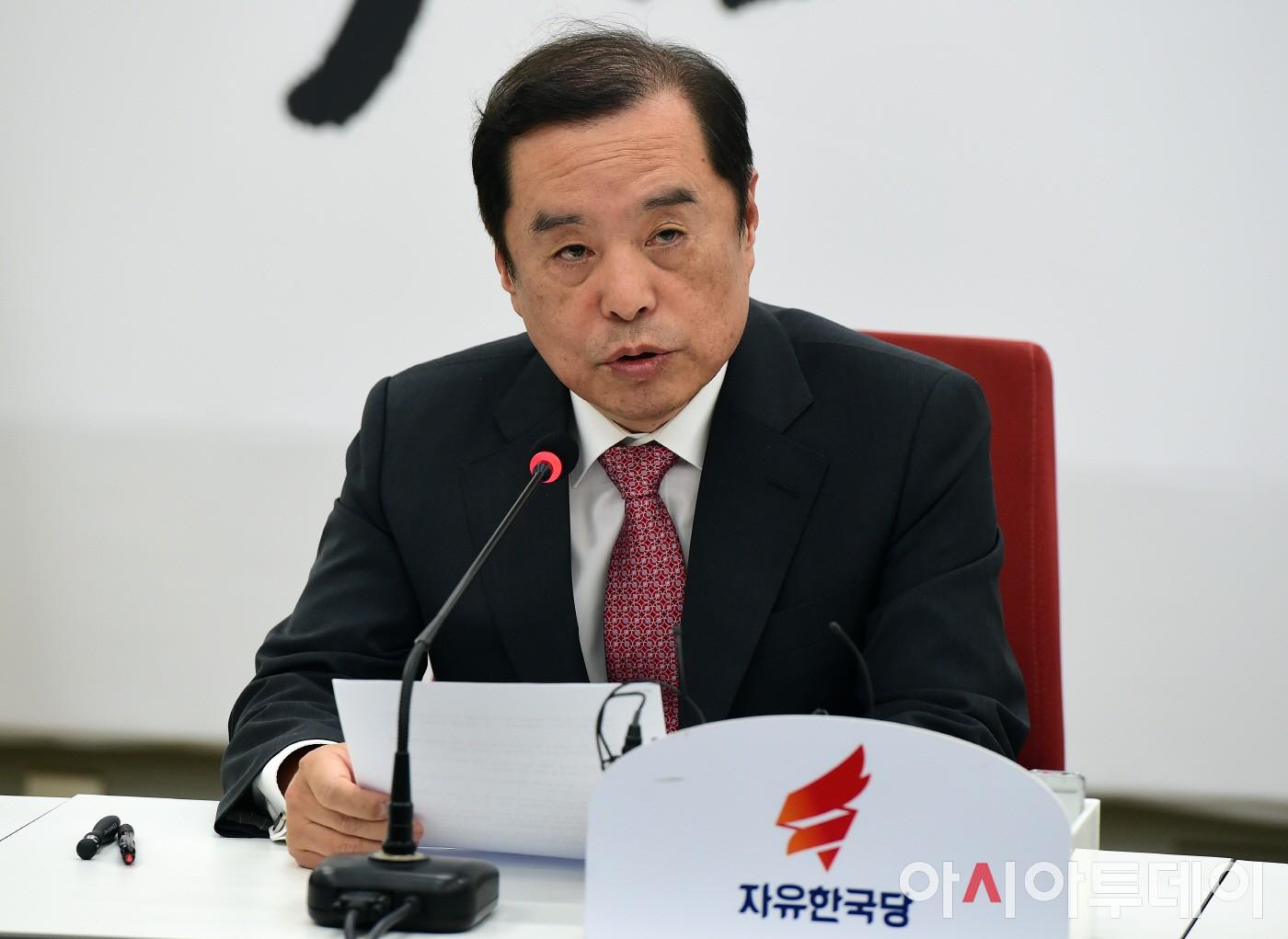 김병준, '서울교통공사 특혜 채용 의혹' 관련 기자간담회