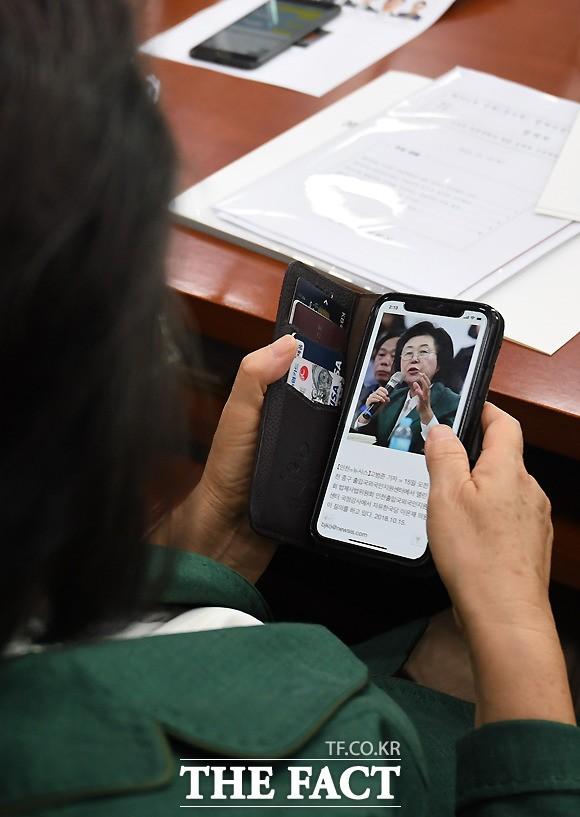 '이은재'검색하는 이은재 의원,국감 스타 검증?