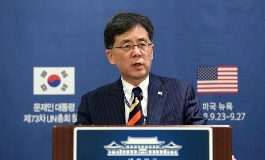 """김현종 왜 이목? 노무현과 """"첫날부터 딱 통해"""", WTO 단체 사진에서 사라져"""