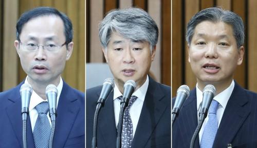 헌재 재판관 3人 임명동의안 국회 통과